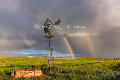 Limon, CO Windmill and Rainbow