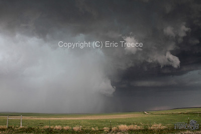 Hail shaft on supercell storm near Limon, CO.