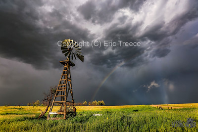 Rush, CO Windmill and Rainbow