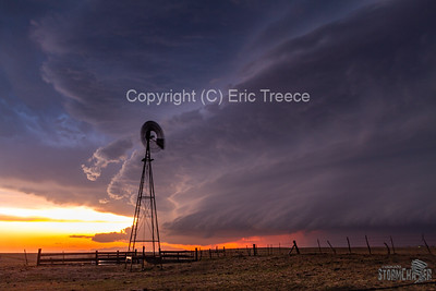 Calhan, CO Sunset Supercell