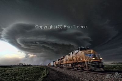 UP 7698 and Nebraska Supercell