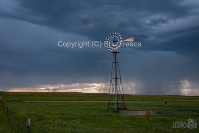 Ramah, CO Windmill and Lightning