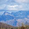 snow falls in the Mountains.  Tucson, AZ Dec 30, 2010