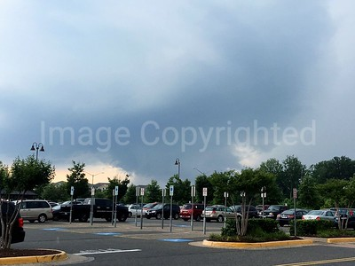 Wall cloud in fredericksburg va