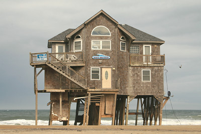 """Wave Breaker"" is now sitting inches away from the beach.  The Inn at Rodanthe was the very first home on Rodanthe which was a few houses north of this one.  I think the wave broke it...how ironic."