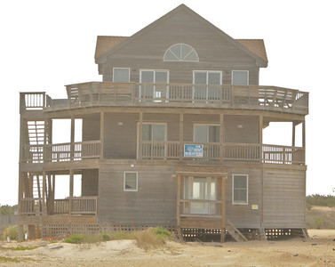 This house isn't even on the ocean side.  It is across the street as you enter Rodanthe!
