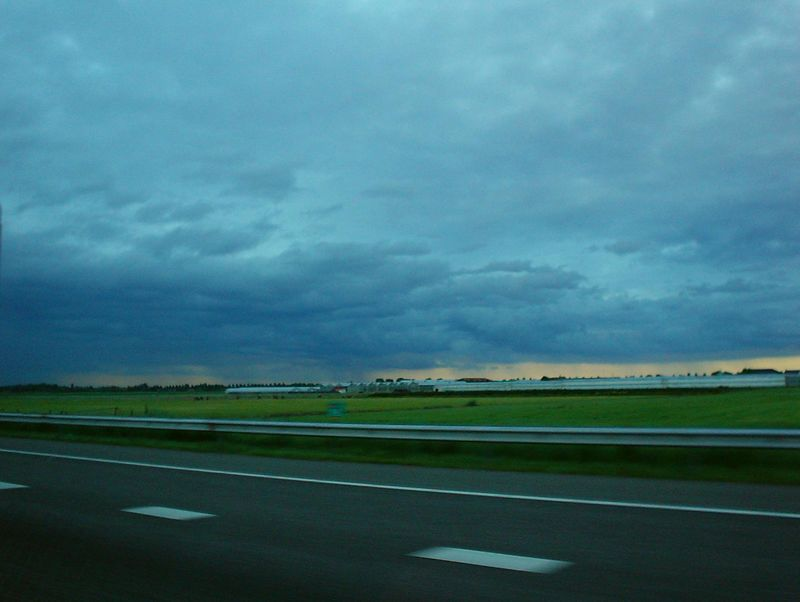 Great big rain storm in June 2004 over the coastal area between Leiden and Schiphol Airport