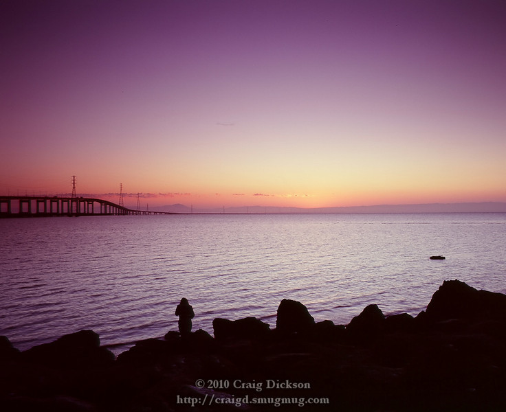 Girl and sunrise