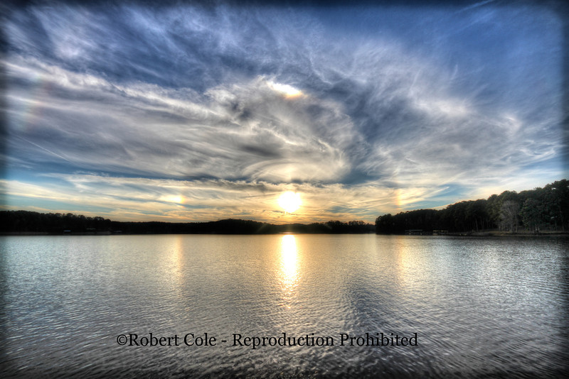 Sun Dog at Lake Hartwell