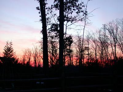 Sunset: Leesburg, Va: December 29, 2002