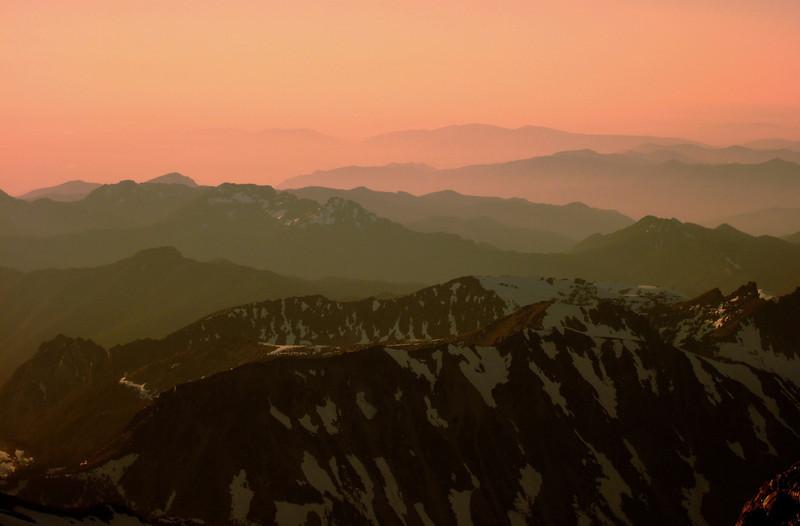 Sunset view from Mt. Rainier, WA