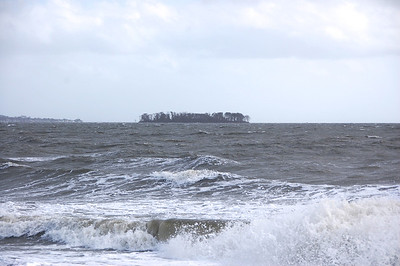 A view to Charles Island - 2 hours before high tide on Tuesday.