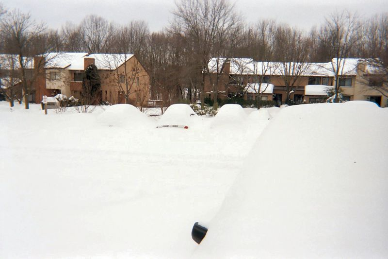 There are cars under there somewhere.