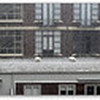 A panorama of the hail. One of the downpours of Manchester House (opposite) broke and spouted water mid way down. But that was nothing compared to the devastation at Southern Cross Railway Station and the ABC Building in Southbank: both had their roofs fail and they got flooded.