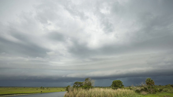Shelf Cloud Over St. Johns River - 2