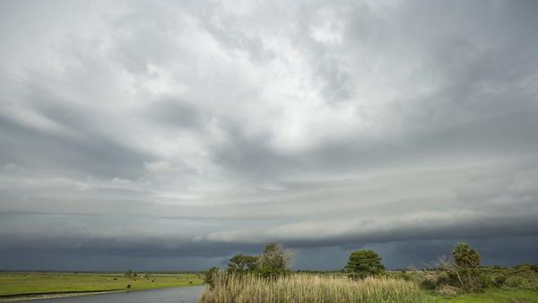 Shelf Cloud Over St. Johns River - 2