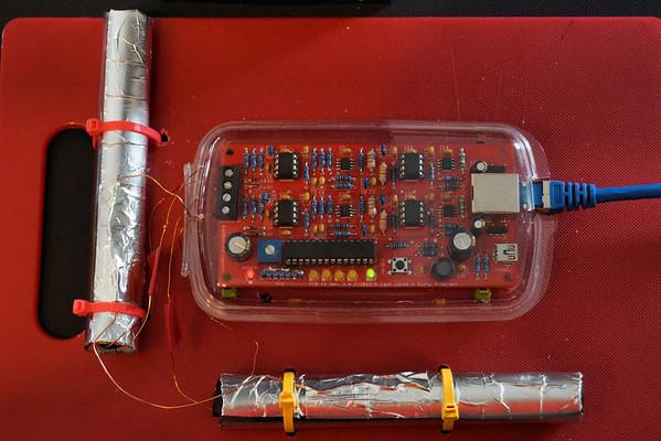 Blitzortung Amplifier and 120mm ferrite antennas