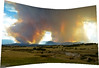 4:33 p.m. - Panorama - Hwy. 83 and Shoup Road - It looked as if there were three distinct plumes of smoke, and the smoke itself had gotten a lot darker.