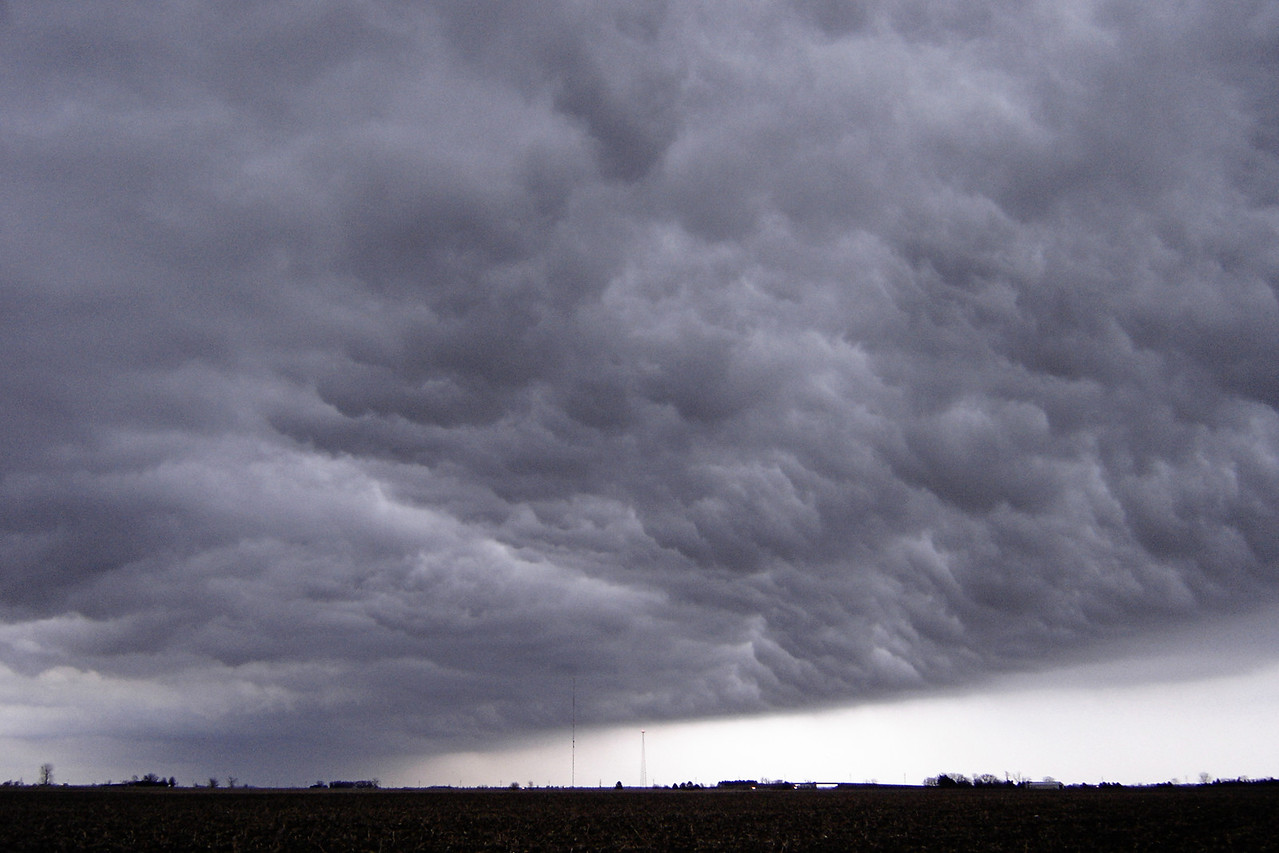 """November 29 - Piatt County IL. Day one of an historic and crippling ice storm, the likes of which had not occurred since 1978. Picture was a line of thunderstorms as temperatures were initially very mild.<br /> <br /> Related link <a href=""""http://www.crh.noaa.gov/ilx/?n=2006-Dec01"""">http://www.crh.noaa.gov/ilx/?n=2006-Dec01</a>"""