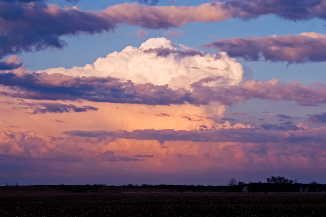 March 11 - Distant Storm Over Champaign County Illinois