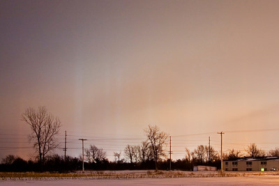 January 8 - Light Pillars, Decatur Illinois