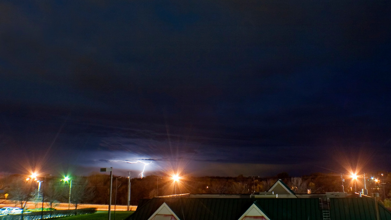 November 3 - Lightning With Sleet, Near Forsyth Illinois