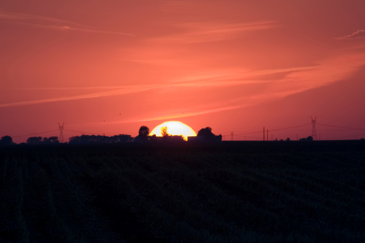 September 21 - Sunset, Near Niantic, Macon County Illinois