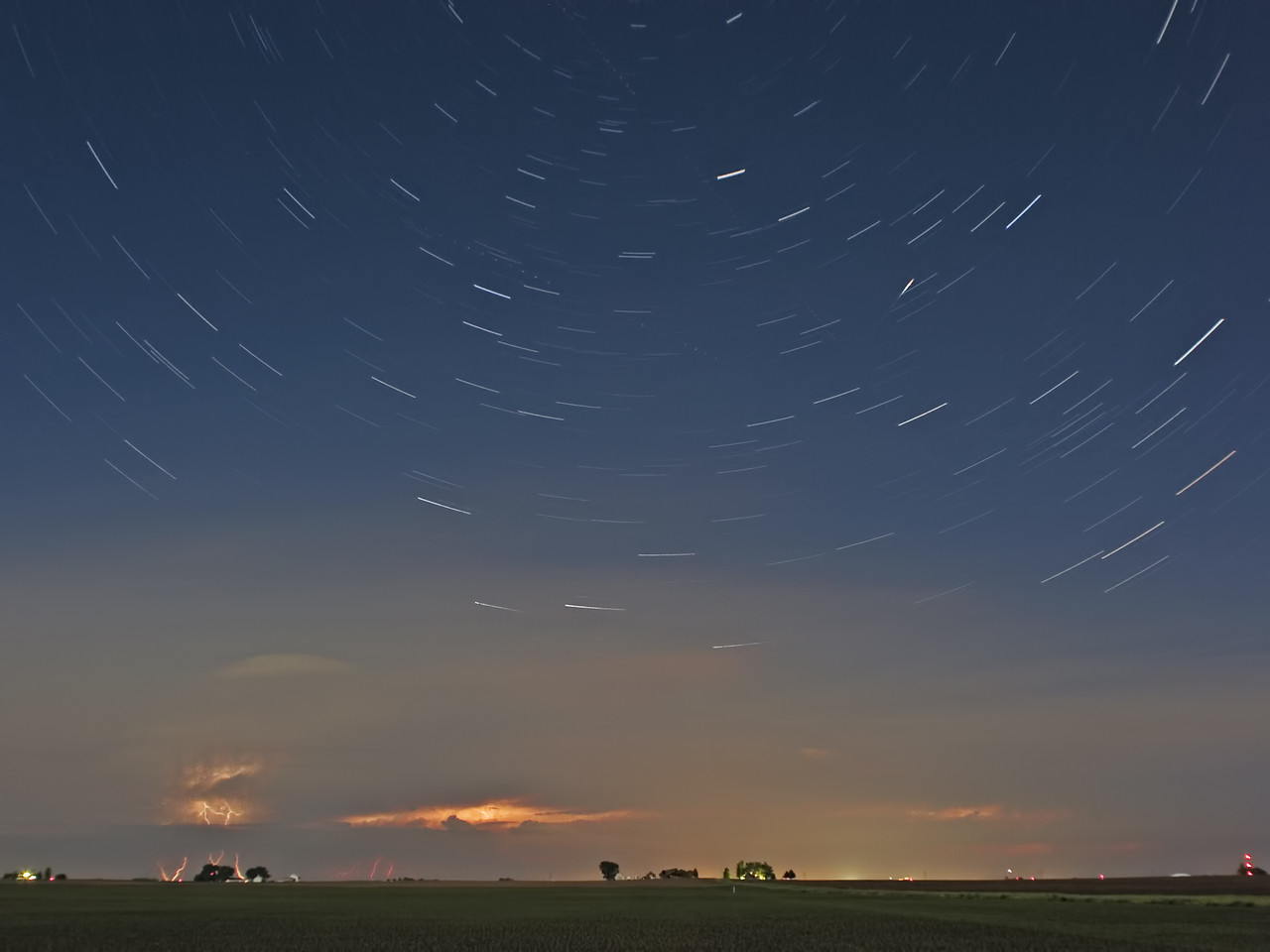 May 3 - Image Stack of Storms Over Northern Illinois
