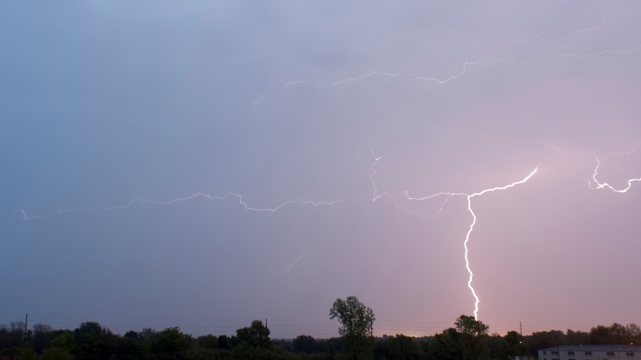 April 30 - CG Lightning, Near Forsyth Illinois