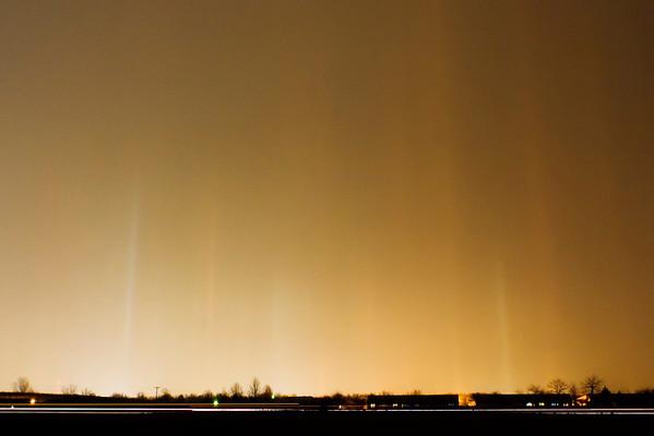 January 20 - Light Pillars in Heavy Sleet, Macon County Illinois