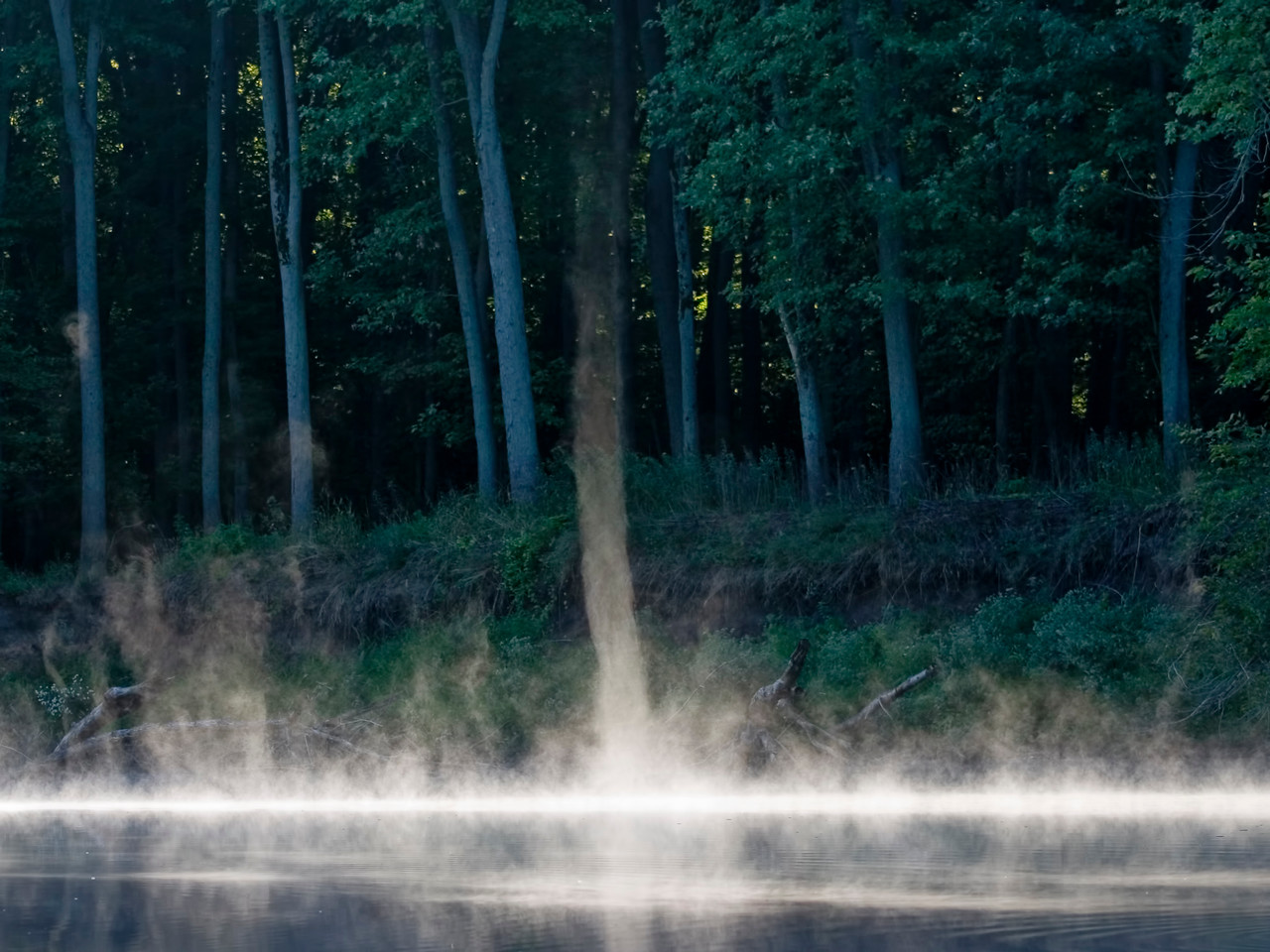 September 23 - Steam Devils on the Sangamon River, Macon County Illinois