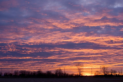 January 30 - Sunrise, Near Forsyth Illinois