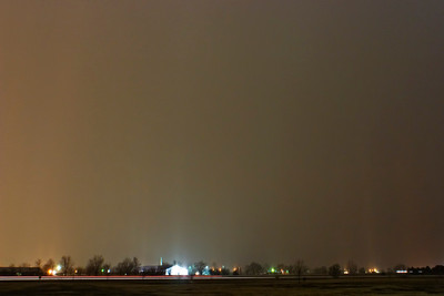 January 20 - Light Pillars in Heavy Sleet, Macon County Illinois