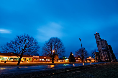 "February 10 - Non event ""blue hour"" test shot with a recently obtained 10-24 Tamron wide angle, Macon IL"