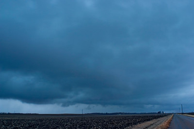 January 29 - Squall line with areas of rotation that was formerly tornado warned in SW IL but lost the warning only to then go severe warned again shortly after this shot, Logan County IL