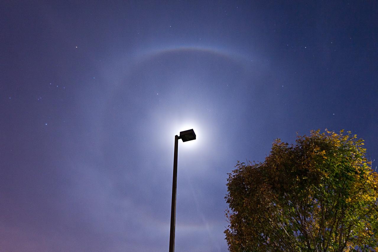 October 11th - Lunar halo, Forsyth IL