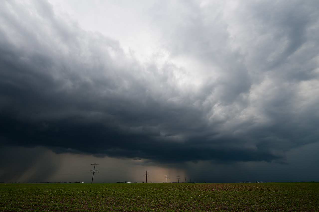 May 28th - Non-severe thunderstorm on a day that landspouts were reported to our north, Macon County IL