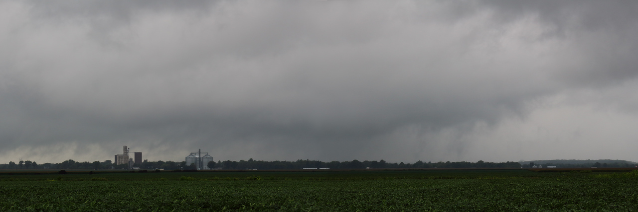 August 15, 2016 - Storm bearing supercellish structure gets our attention on a sleeper day resulting in tornadoes further east into Indiana. Dewitt County, IL