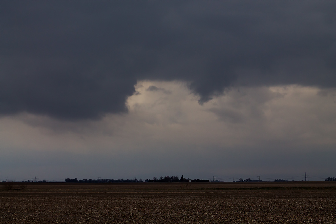 Possible funnel cloud, Latham, IL