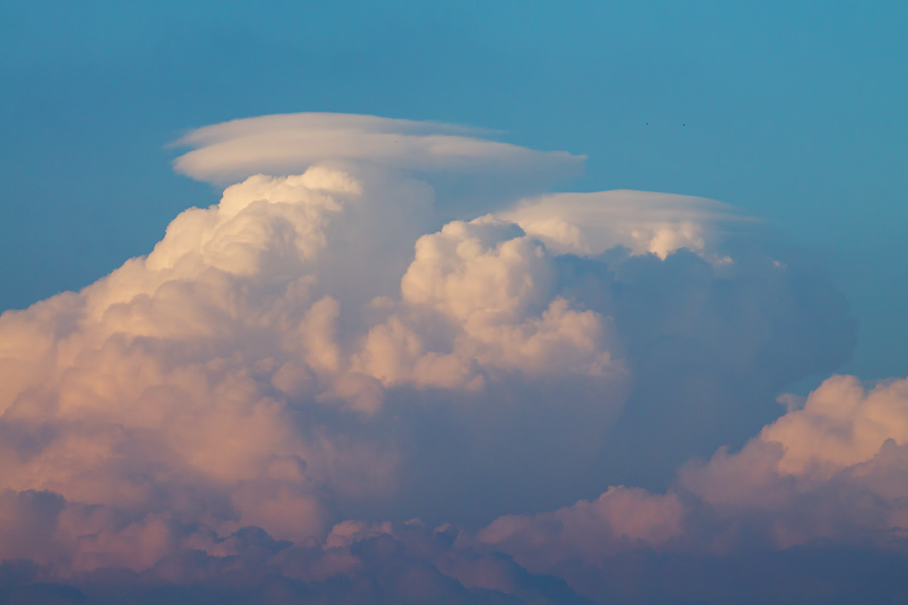 Pileus clouds over tornadic storm now in Indiana.