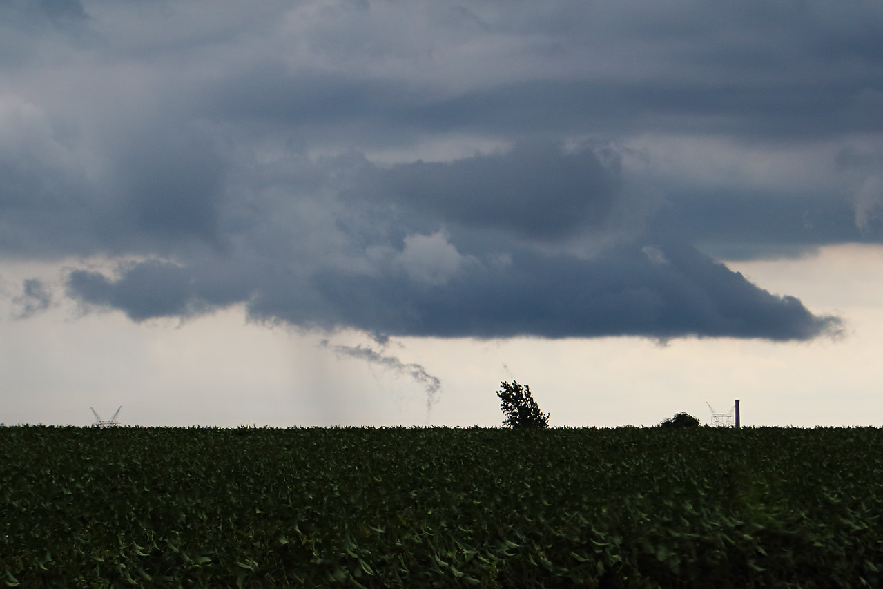 Distant landspout over Christian County, IL