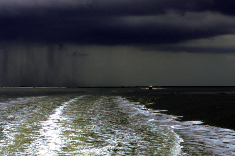 Chased by a storm near Jekyll Island, Georgia