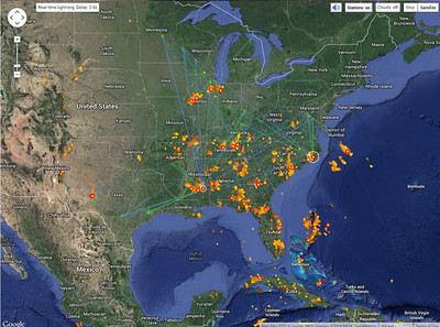 Real-Time Lightning Map  LightningMaps org -