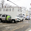 The scene of a 2-car accident at the intersection of Charles and Forest streets in Fitchburg on Monday. There were 3 refusals of transportation to the hospital.<br /> SENTINEL & ENTERPRISE / BRETT CRAWFORD