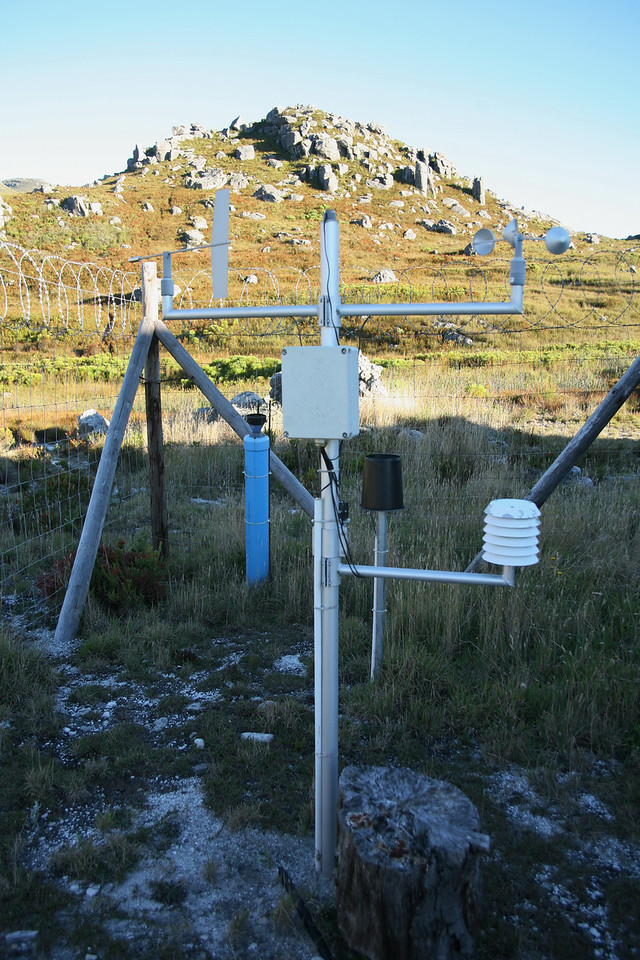 Instruments at a weather station