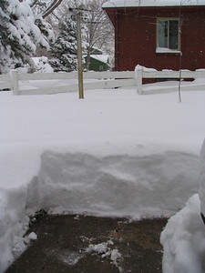 Actually managed to shovel my walk (and that's about all) here the snow accumulated to roughly 19 inches.