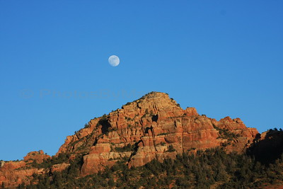 Moonrise over Camelhead Rock, Sedona, AZ