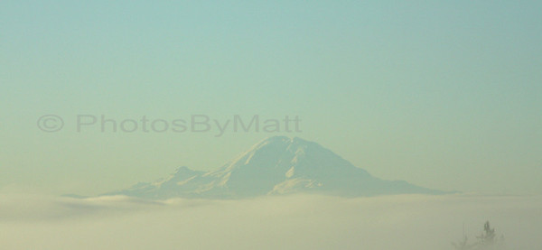 Foggy Friday morning with Mt. Rainier