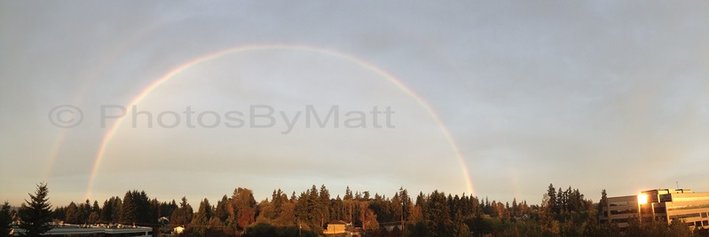 Double Rainbow in Lynnwood, WA