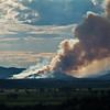 7/22/12 The Airpark Fire was reported around noon today just south of Animas Airpark. This shot was taken around 6pm from the east side of La Plata County (on a ridge between Bayfield and Durango.